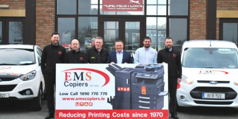 EMS Copiers sponsorship announcement for Punchestown 2015