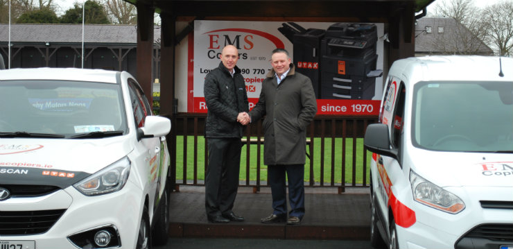 Punchestown Racing Manager Richie Galway and EMS Copiers Sales Director John Cahill
